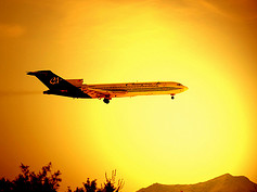 Plane in Sunset