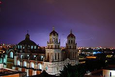Puebla at night