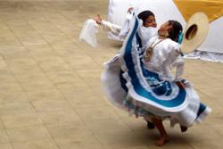 dancers in peru