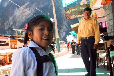 schoolgirl in peru