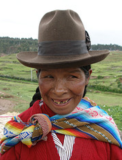 smiling woman in peru