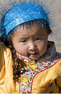 little girl in china