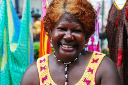 Woman at Port Moresby market