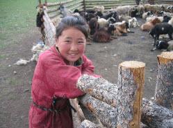 mongolian shepherd girl