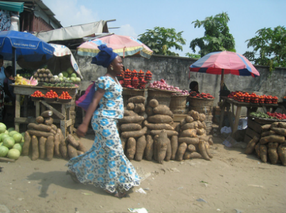 woman at nigerian market