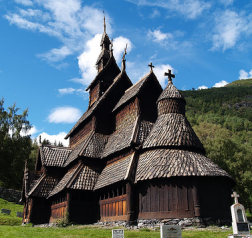 historical church in norway