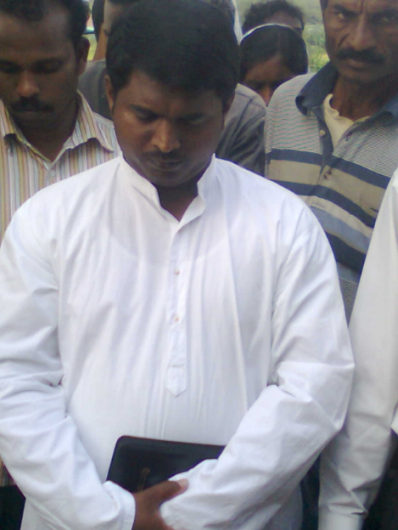 vasanth in prayer